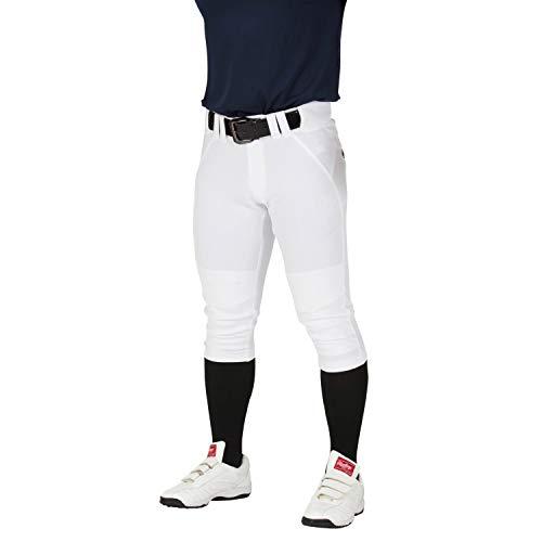 Rawlings(ローリングス) 4Dウルトラハイパーストレッチパンツ ショートフィット(マーク有り、ひざ2重加工) 野球ズボン(パンツ) 大人用 練習用 APP9S01 ホワイト O