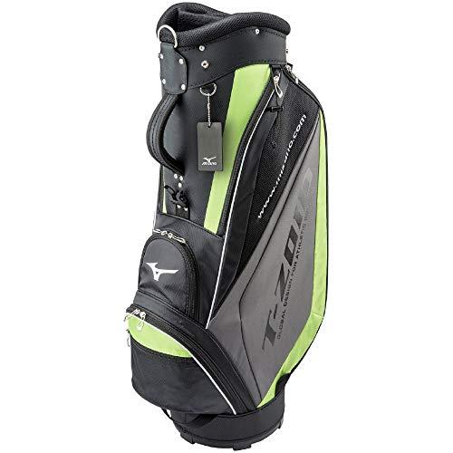 MIZUNO 新作通販 ミズノ ゴルフ キャディーバッグ T-ZOID ティーゾイド メンズ 9.5型 5分割 47インチ対応 代引き不可 ブラック×グリーン 5LJC179300 77cm 軽量約2.7kg