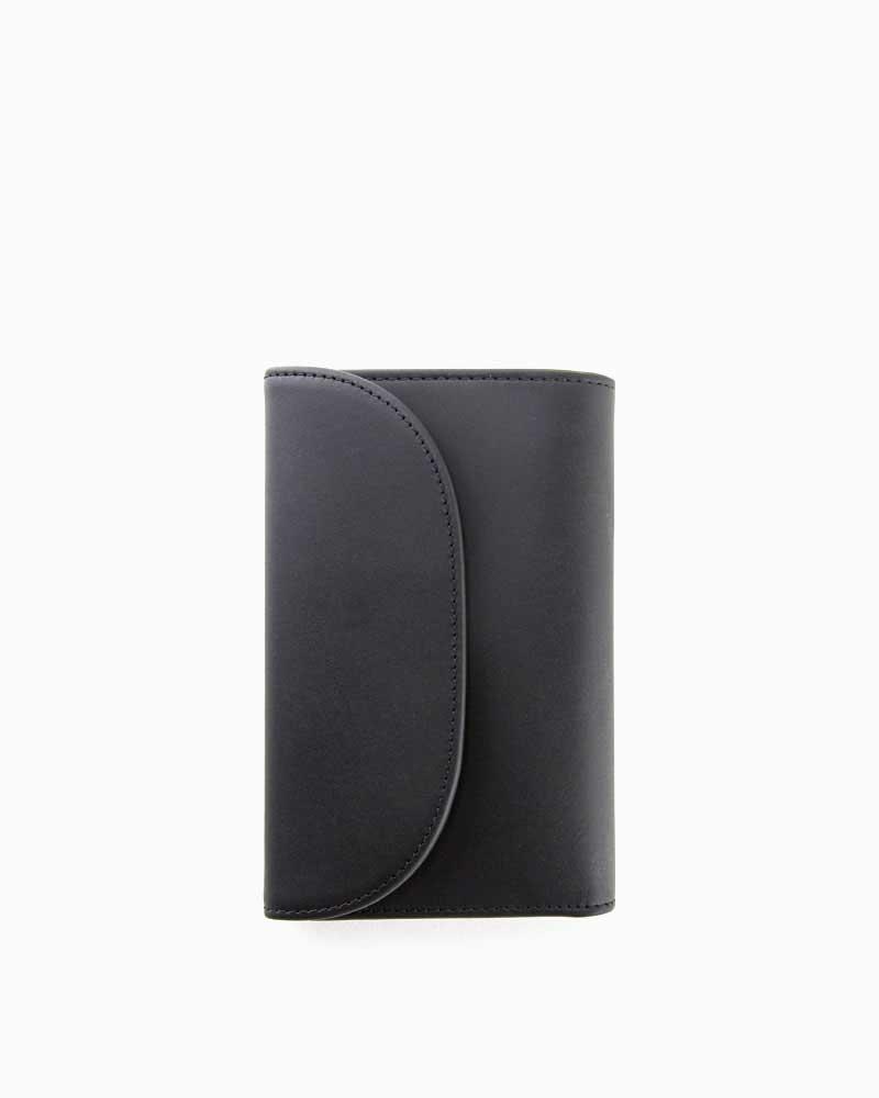 ホワイトハウスコックス【Whitehouse Cox】型番:S7660(ブラック×タン) 財布 三つ折り財布 ツートン ダービーコレクション 馬革 ホースハイド 男女兼用(ブラック)(タン)