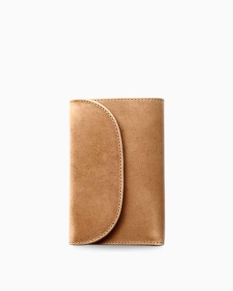 ホワイトハウスコックス【Whitehouse Cox】型番:S7660(ナチュラル) 財布 三つ折り財布 ツートン ヴィンテージブライドルレザー 牛革 男女兼用(ベージュ)