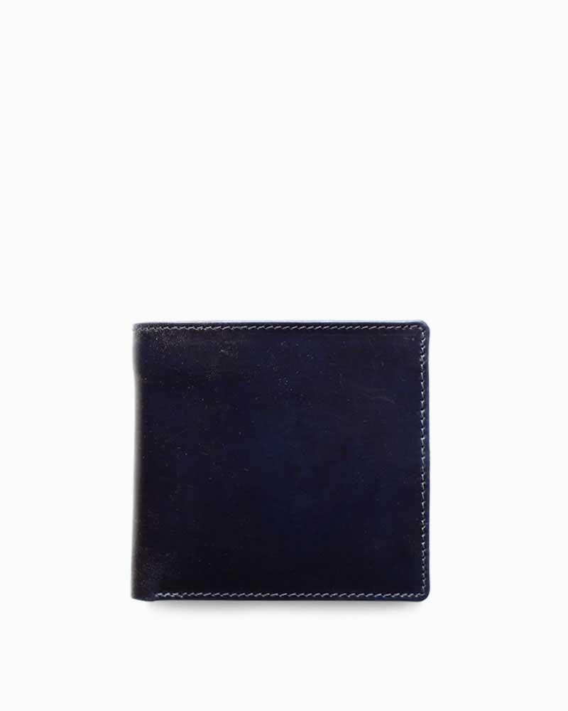 ホワイトハウスコックス【Whitehouse Cox】型番:S7532(ネイビー×ナチュラル) 財布 二つ折り財布 ツートン ヴィンテージブライドルレザー 牛革 男女兼用 (ネイビー)(ベージュ)