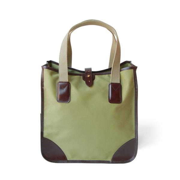 ホワイトハウスコックス【Whitehouse Cox】型番:L9070(オリーブ×ハバナ) トートバッグ 鞄 コットンツイルキャンバス ブライドルレザー ツートーン 牛革 男女兼用(オリーブ)(ブラウン)
