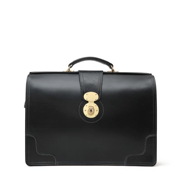 ホワイトハウスコックス【Whitehouse Cox】型番:L9505(ブラック) ブリーフケース 鞄 ブライドルレザー 牛革