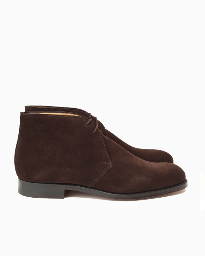 Crockett & Jones CHERTSEY ( dark brown suede ) Men's Collection