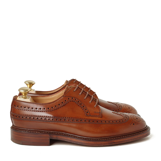 Crockett & Jones CHEVIOT (whisky) shell cordovan leather sole Derby leather men's