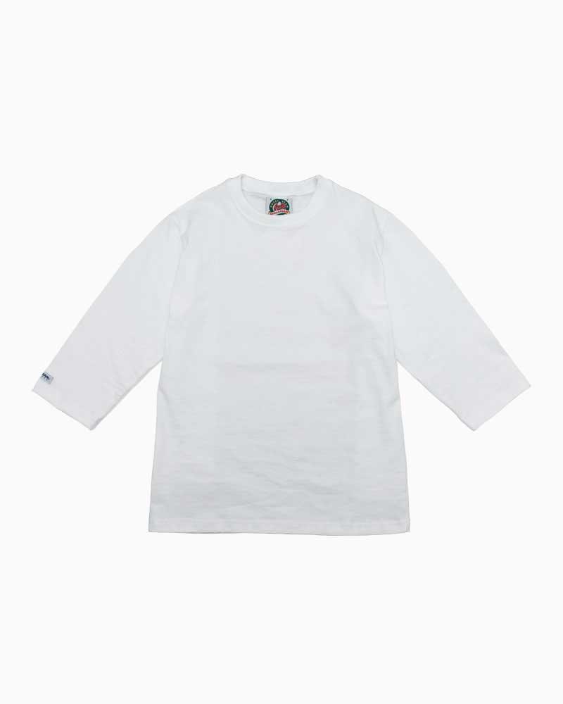 バーバリアン【BARBARIAN】8oz CREW 3/4 / QFF08(ホワイト)メンズ 七分袖 クルーネック ラガーシャツ ライトウエイト 無地