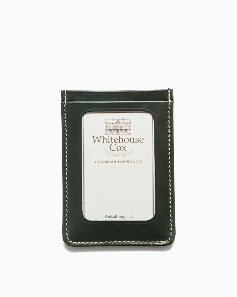 ホワイトハウスコックス【Whitehouse Cox】型番:S9905(グリーン) パスケース 定期入れ ビジネスツール アクセサリー ブライドルレザー 牛革 男女兼用