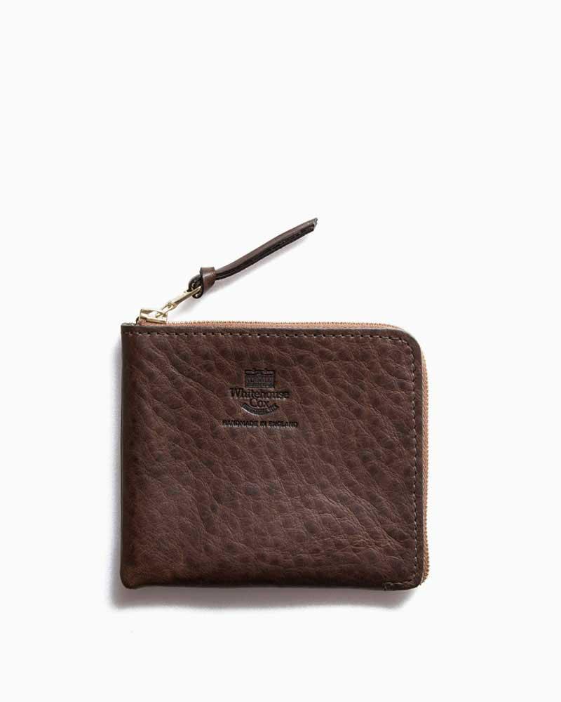 ホワイトハウスコックス【Whitehouse Cox】型番:S9829(ブラウン) 財布 マルチパース ジップラウンド サファリレザー 牛革 男女兼用
