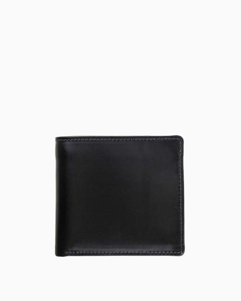 ホワイトハウスコックス【Whitehouse Cox】型番:S7532(ブラック/ナチュラル) 財布 二つ折り財布 ツートン ヴィンテージブライドルレザー 牛革 男女兼用