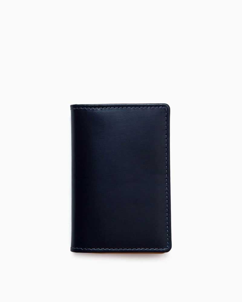 ホワイトハウスコックス【Whitehouse Cox】型番:S2380(ネイビー/イエロー) カードケース ビジネスツール ブライドルレザー ツートン 牛革 男女兼用
