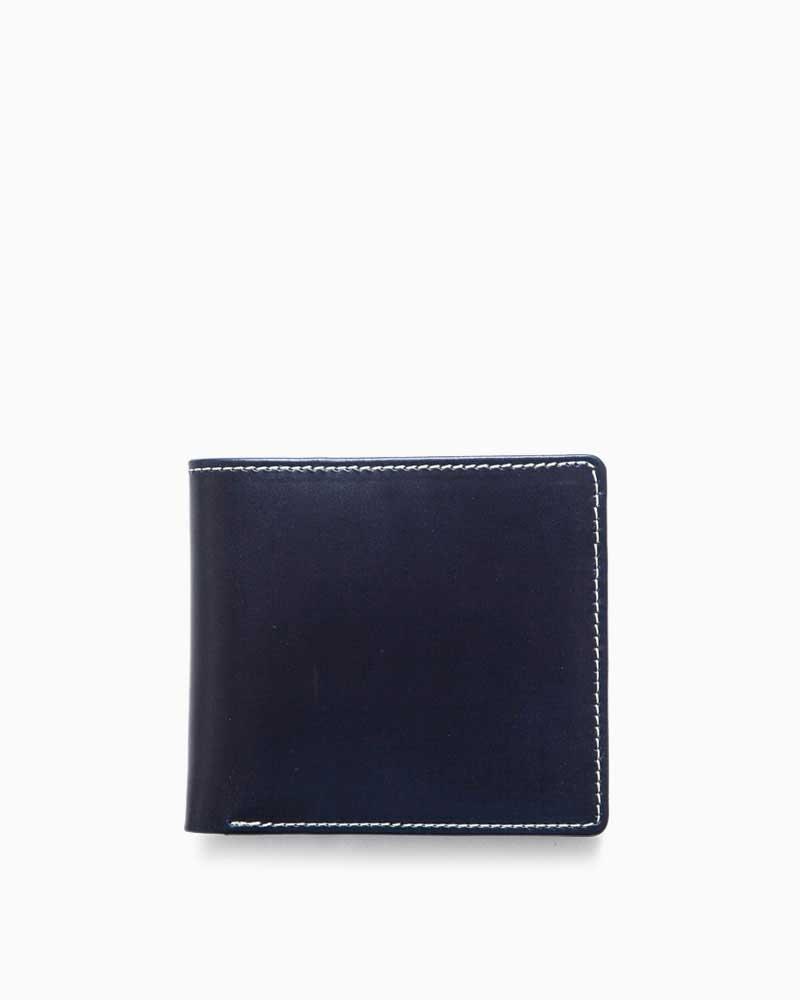 ホワイトハウスコックス【Whitehouse Cox】型番:S8772(ネイビー) 財布 二つ折り財布 ブライドルレザー 牛革