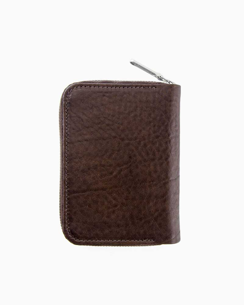 ホワイトハウスコックス【Whitehouse Cox】型番:S2534(ブラウン) 財布 ジップ付き二つ折り財布 サファリレザー 牛革 男女兼用