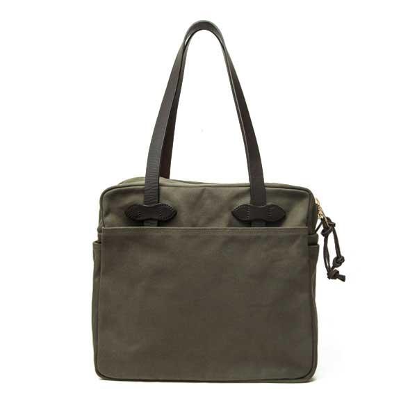 フィルソン【FILSON】TOTE(オッターグリーン) トートバッグ 鞄 ラギットツイルコットン ブライドルレザー 牛革 男女兼用(オッターグリーン)