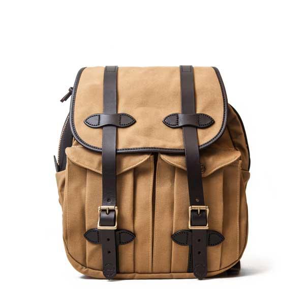 フィルソン【FILSON】RUCKSACK (タン) リュックサック 鞄 ラギットツイルコットン ブライドルレザー 牛革 男女兼用(タン)