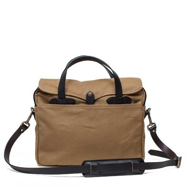 フィルソン【FILSON】ORIGINAL BRIEFCASE (タン) ブリーフケース 鞄 ラギットツイルコットン ブライドルレザー 牛革 男女兼用(タン)