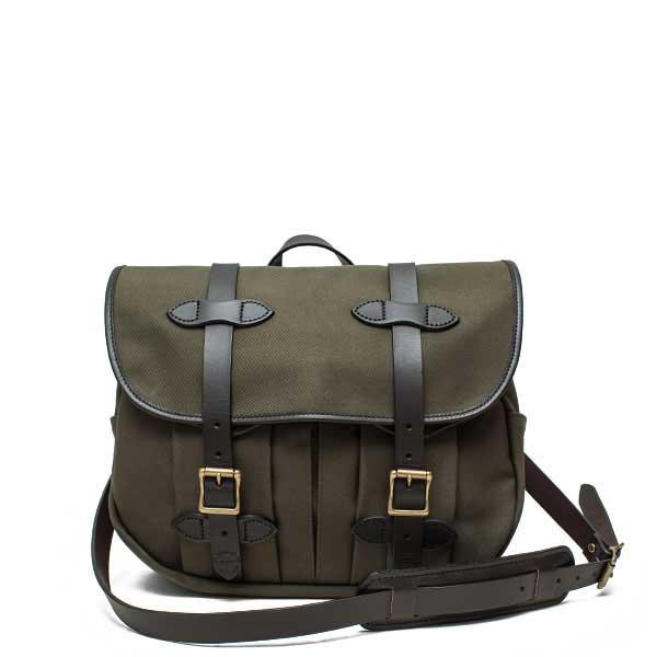 フィルソン【FILSON】MEDIUM FIELD BAG (オッターグリーン) フィールドバッグ 鞄 ラギットツイルコットン ブライドルレザー 牛革 男女兼用(オッターグリーン)