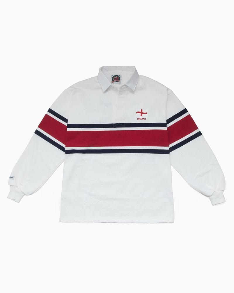 バーバリアン【BARBARIAN】 WORLD RUGBY WOR034(ENGLAND)長袖 レギュラーカラー ラガーシャツ カナダサイズ
