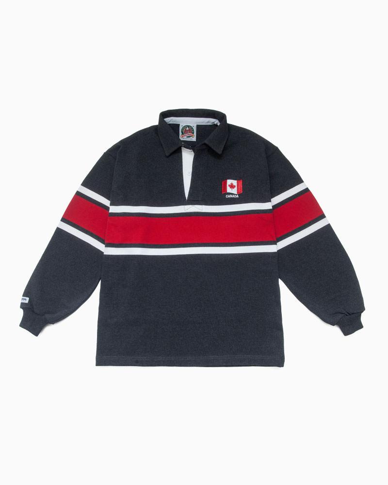 バーバリアン【BARBARIAN】 WORLD RUGBY WOR045(CANADA)長袖 レギュラーカラー ラガーシャツ カナダサイズ