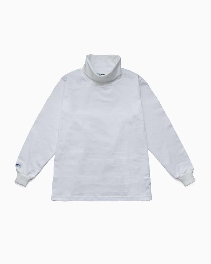 バーバリアン【BARBARIAN】8oz TURTLE LONG / QFE01 (ホワイト)メンズ 長袖 ラガーシャツ ライトウエイト タートルネック