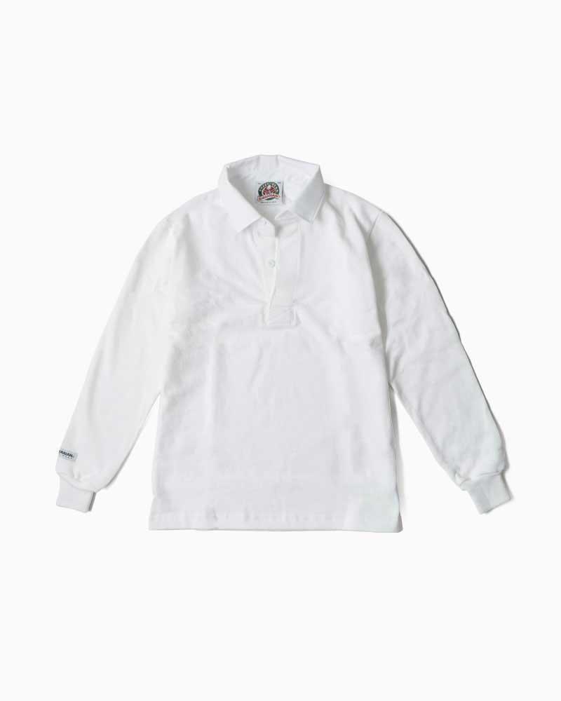 バーバリアン【BARBARIAN】12oz REGULER LONG / BSLA01(ホワイト)メンズ 長袖 レギュラーカラー ラガーシャツ 無地