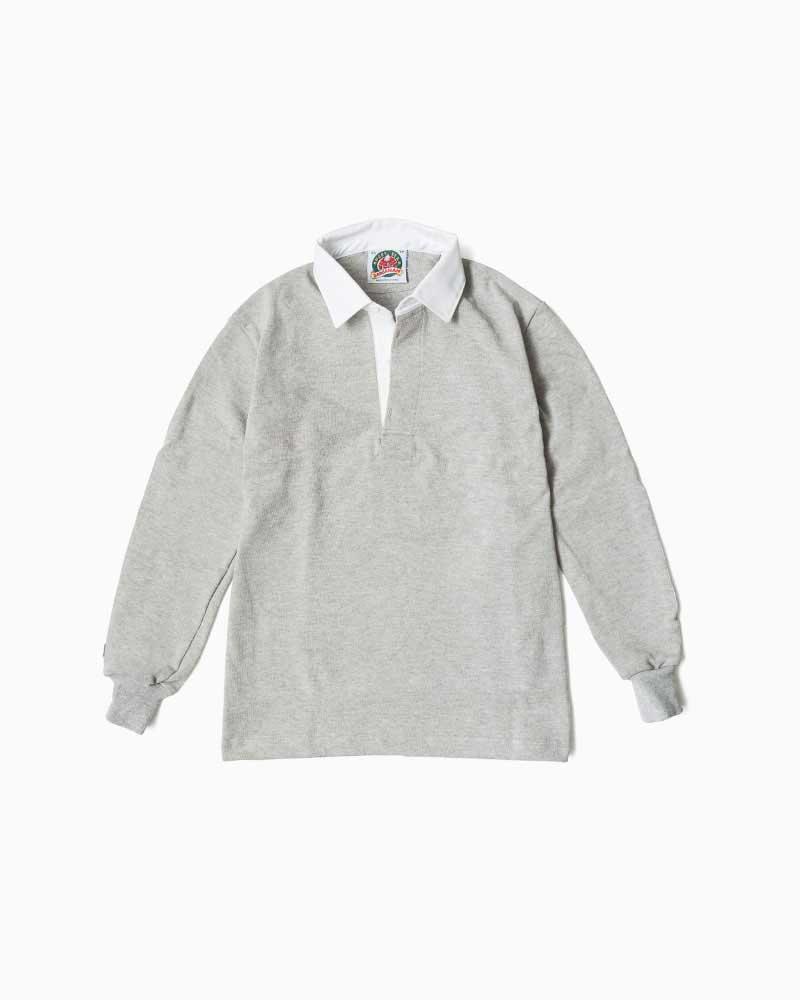バーバリアン【BARBARIAN】12oz REGULER LONG / BSLA02(アッシュ)メンズ 長袖 レギュラーカラー ラガーシャツ 無地