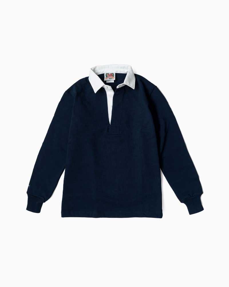バーバリアン【BARBARIAN】12oz REGULER LONG / BSLA04(ネイビー)メンズ 長袖 レギュラーカラー ラガーシャツ 無地