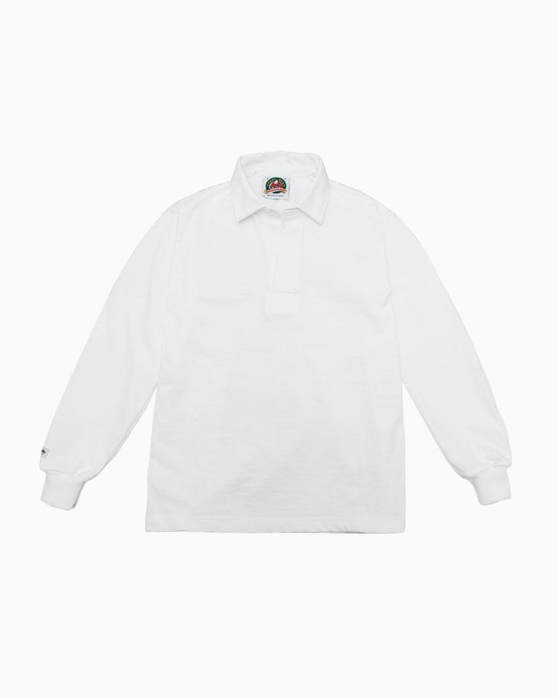 バーバリアン【BARBARIAN】8oz REGULER LONG / CSLA01(ホワイト)メンズ 長袖 レギュラーカラー ラガーシャツ ライトウエイト 無地