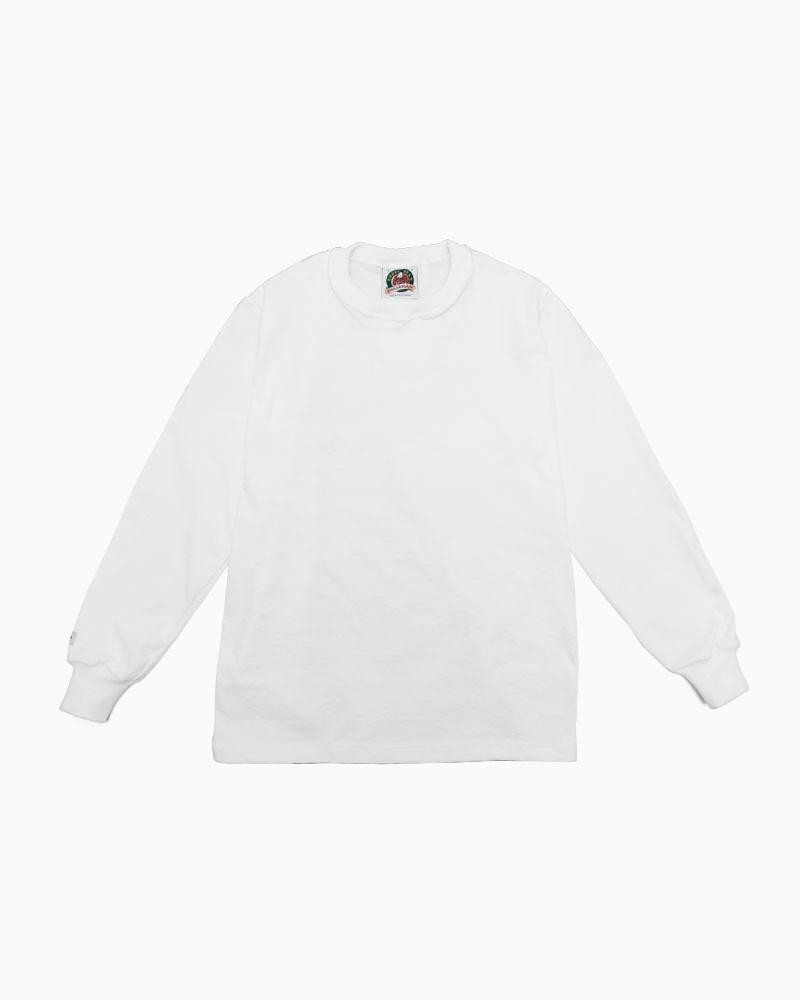 バーバリアン【BARBARIAN】8oz CREW LONG / CCLA01(ホワイト)メンズ 長袖 ラガーシャツ ライトウエイト クルーネック 無地