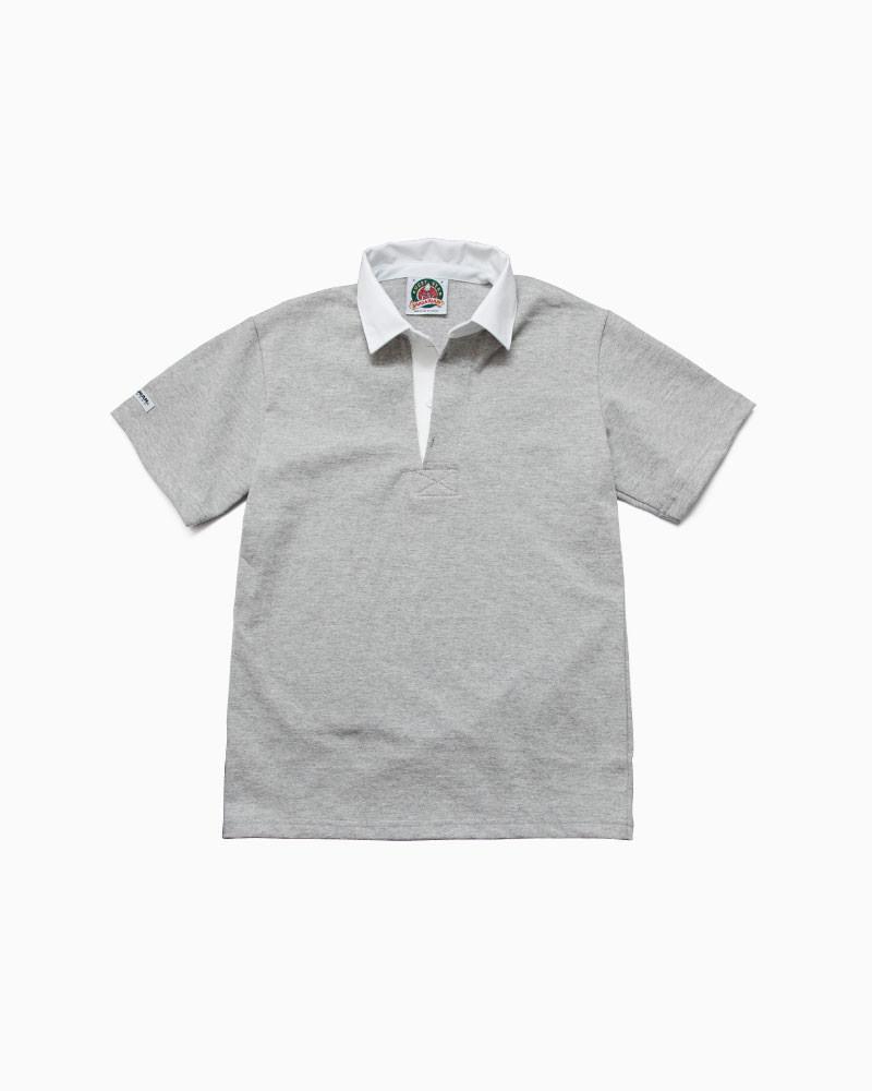 バーバリアン【BARBARIAN】8oz REGULER SHORT / CSSA02(アッシュ)メンズ 半袖 レギュラーカラー ラガーシャツ ライトウエイト