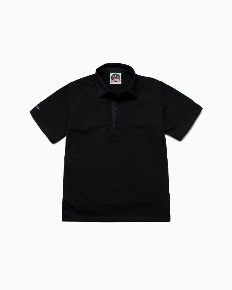 バーバリアン【BARBARIAN】8oz REGULER SHORT / CSSA05(ブラック)メンズ 半袖 レギュラーカラー ラガーシャツ ライトウエイト