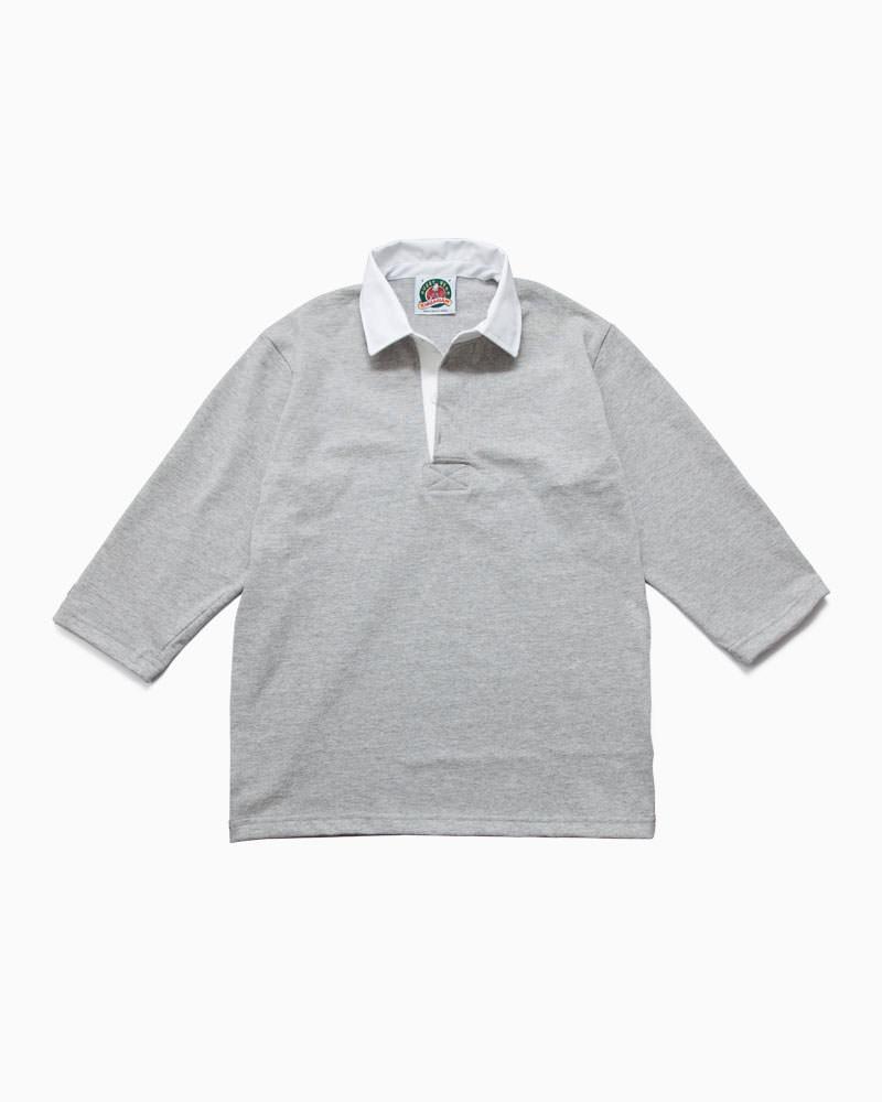 バーバリアン【BARBARIAN】8oz REGULER 3/4 RSF06(アッシュ)メンズ 七分袖 レギュラーカラー ラガーシャツ ライトウエイト 無地