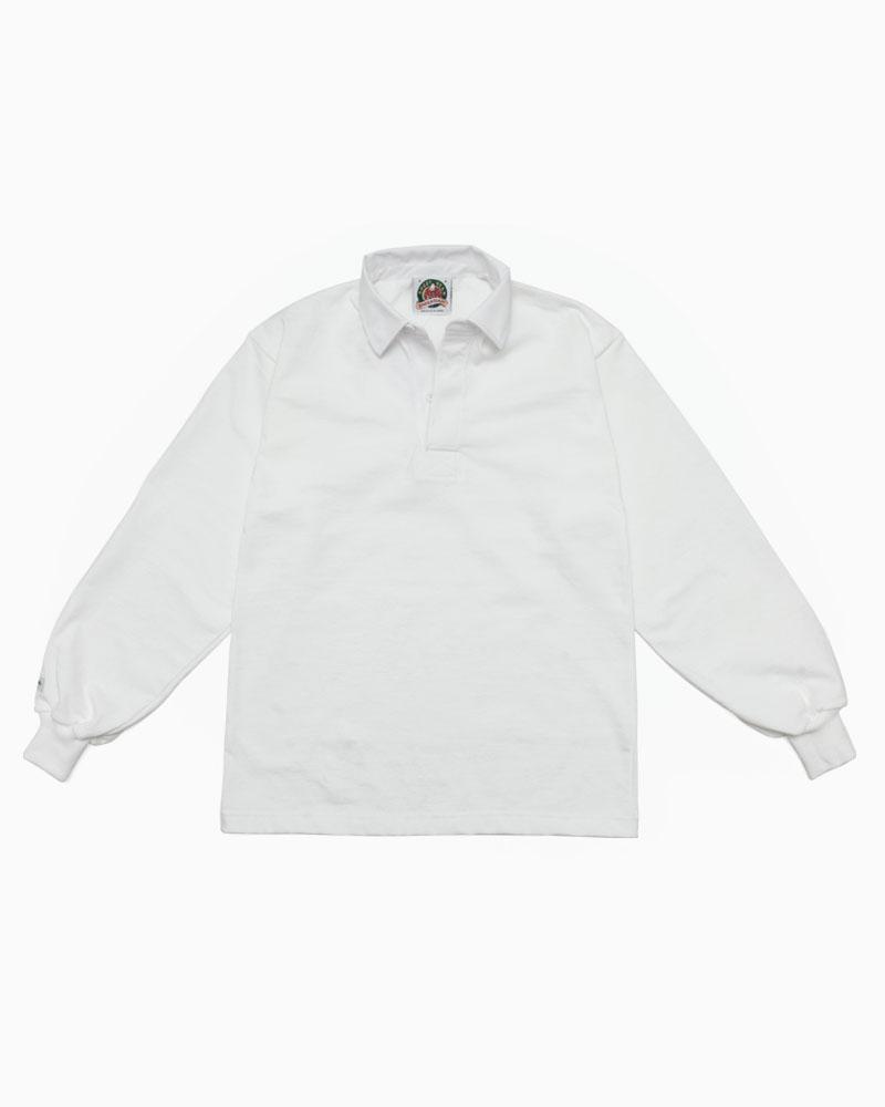 バーバリアン【BARBARIAN】8oz REGULER LONG / SSF11(ホワイト)メンズ 長袖 レギュラーカラー ラガーシャツ ライトウエイト 無地 カナダサイズ:フレームショップ