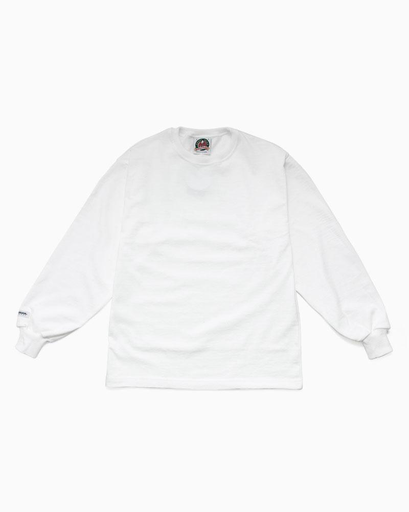 バーバリアン【BARBARIAN】8oz CREW LONG / SSF16(ホワイト)メンズ 長袖 ラガーシャツ ライトウエイト クルーネック 無地 カナダサイズ