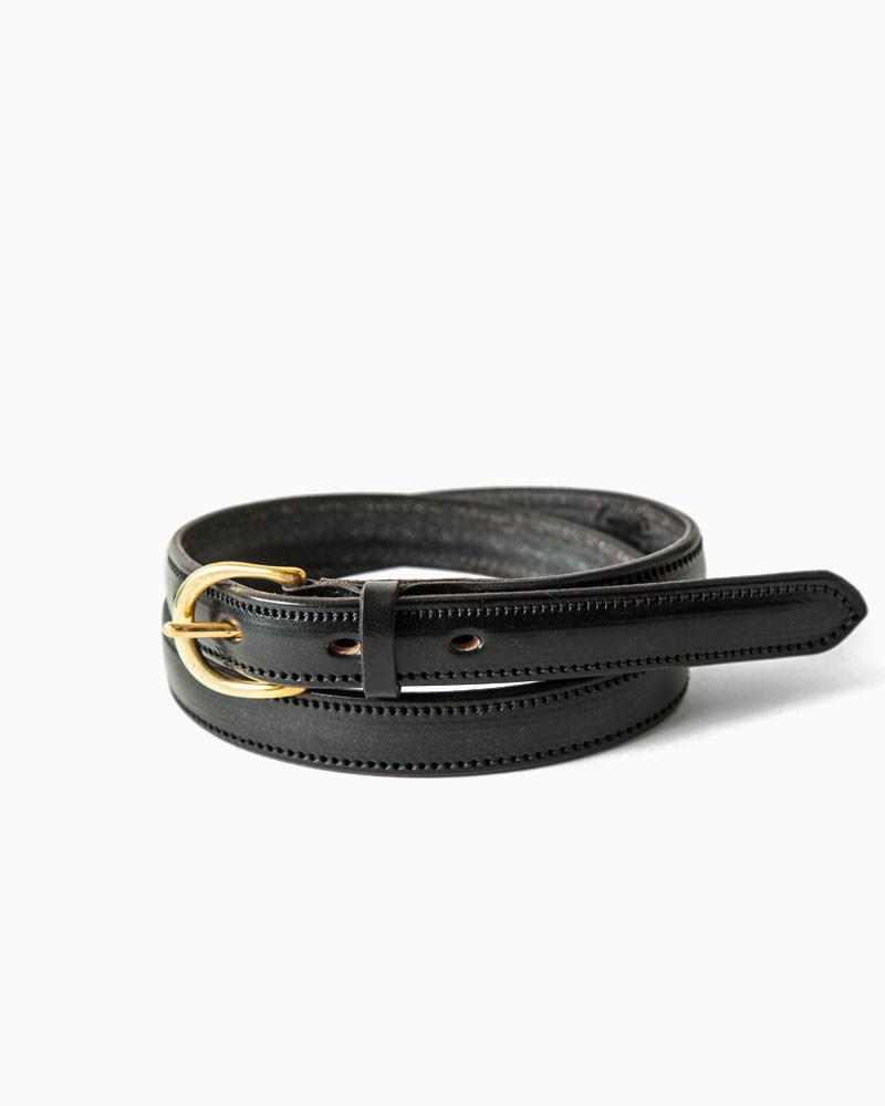 マクロスティ【McROSTIE】 CLEVEDON(ブラック) ベルト 19mm ブライドルレザー 牛革