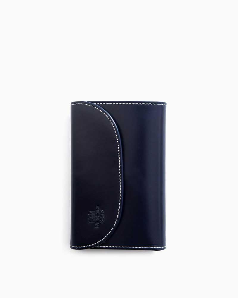 ホワイトハウスコックス【Whitehouse Cox】型番:S7660(ネイビー/パープル) 財布 三つ折り財布 ツートン ブライドルレザー ホリデーライン 牛革 男女兼用