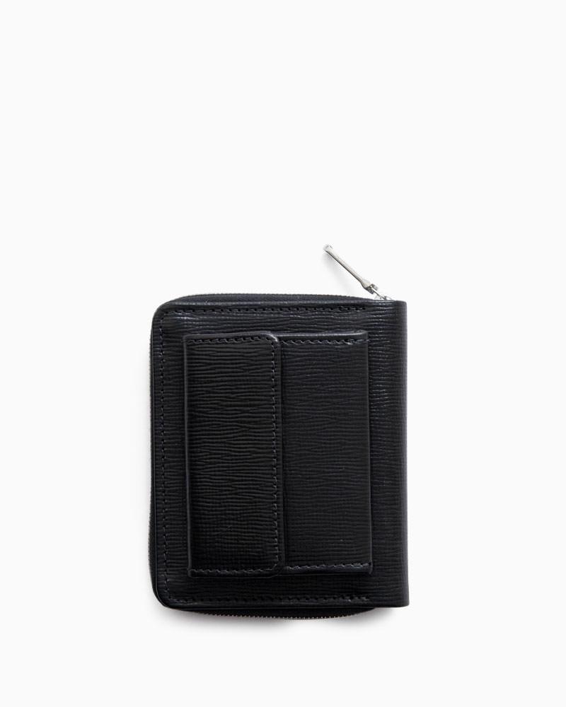 ホワイトハウスコックス【Whitehouse Cox】型番:S3063(ブラック/ブラック) 財布 ジップ付き二つ折り財布 リージェントブライドルレザー 牛革 男女兼用