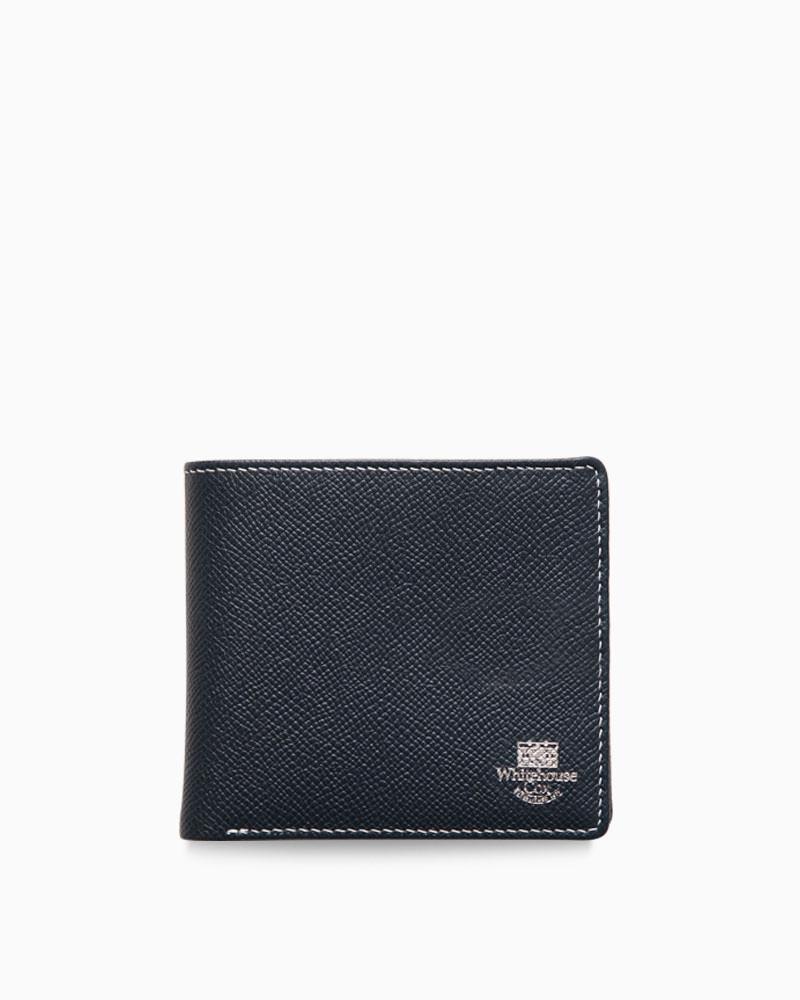 ホワイトハウスコックス【Whitehouse Cox】型番:S8772(ネイビー×レッド) 財布 二つ折り財布 ツートン ロンドンカーフ×ブライドルレザー 牛革 男女兼用(ネイビー)(レッド)