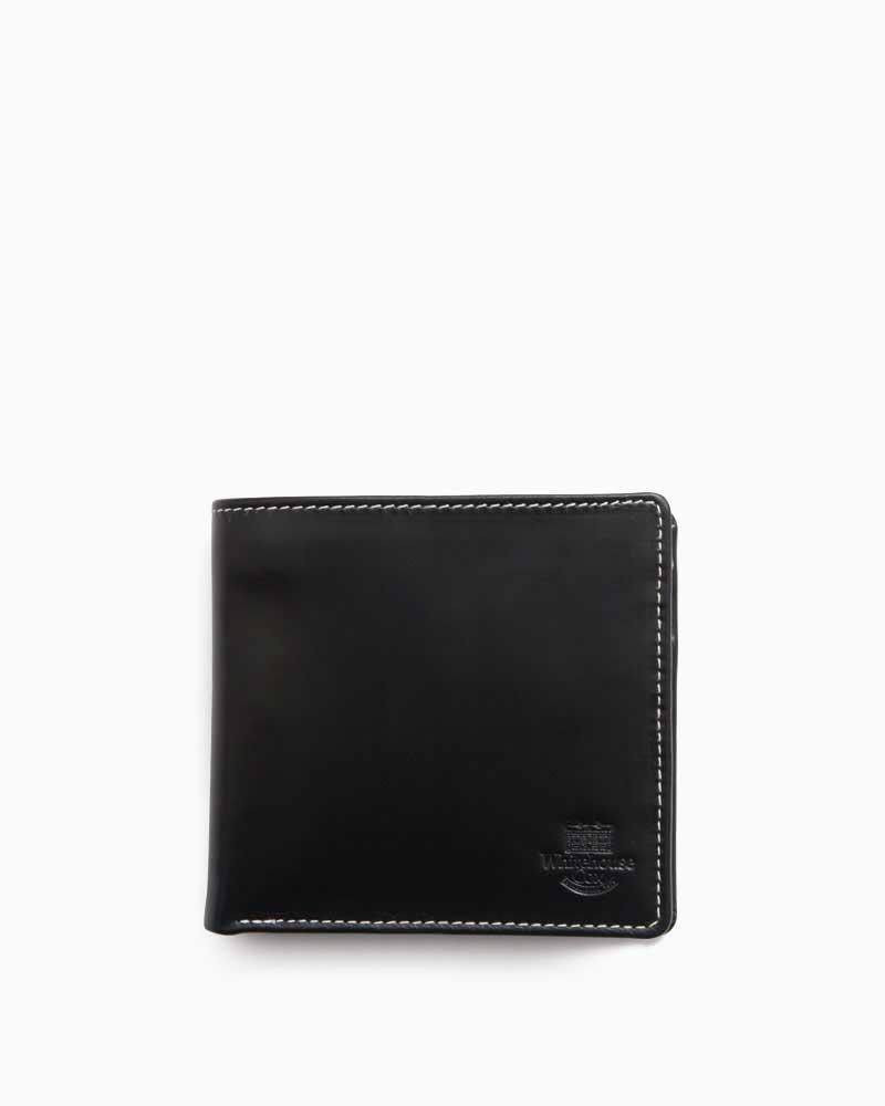 ホワイトハウスコックス【Whitehouse Cox】型番:S7532(ブラック/パープル) 財布 二つ折り財布 ツートン ブライドルレザー ホリデーラインカラー 牛革 男女兼用