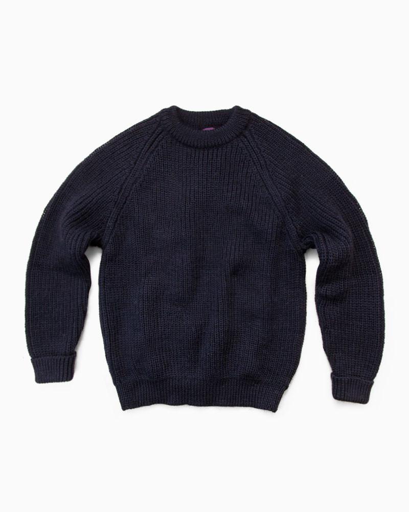 Northern Watters Knitwear【ノーザン・ワッターズ・ニットウエア】 CN1 CREW NECK PULLOVER(ネイビー)メンズ ニットウエア ブリティッシュウール クルーネック