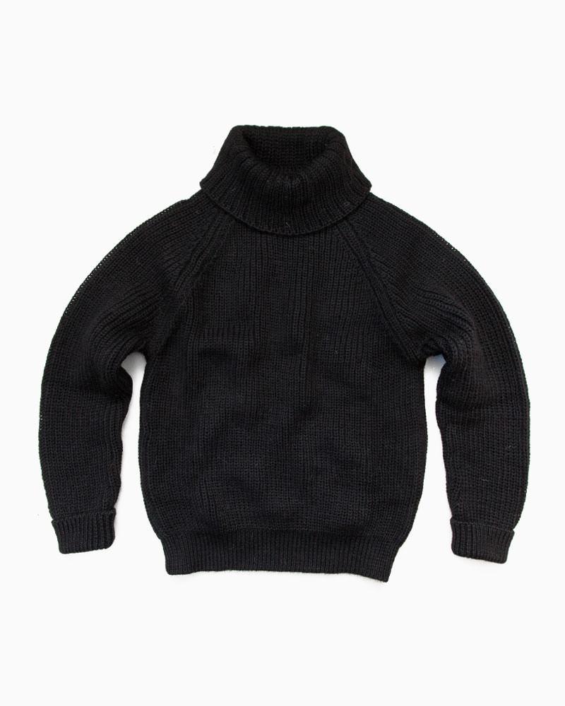 Northern Watters Knitwear【ノーザン・ワッターズ・ニットウエア】 CTN TURTLE NECK PULLOVER(ブラック)メンズ ニットウエア ブリティッシュウール タートルネック