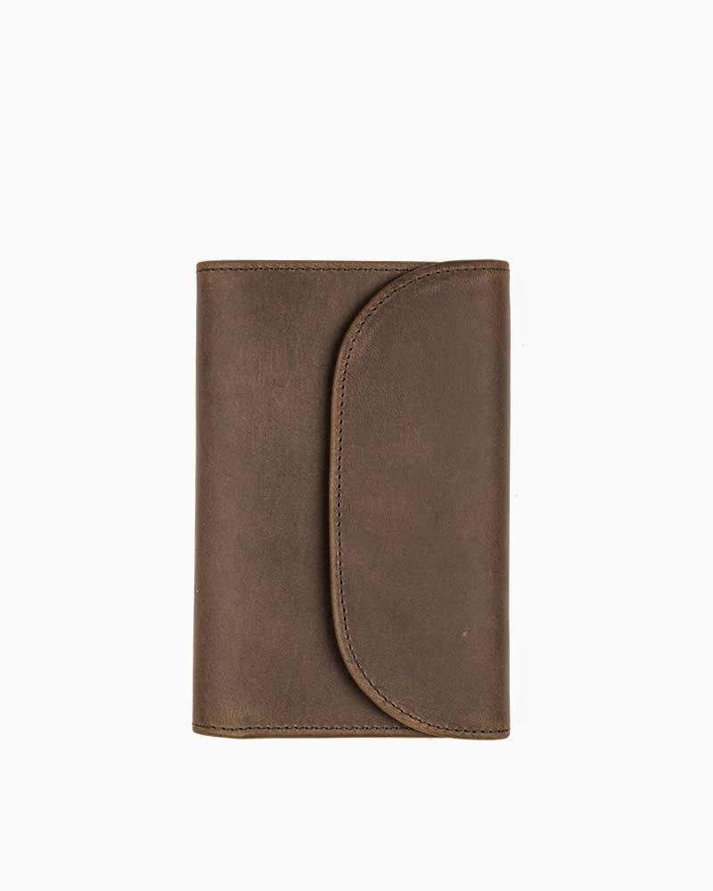セトラー【SETTLER】型番:OW1112(ブラウン) カウハイド 三つ折り財布 男女兼用