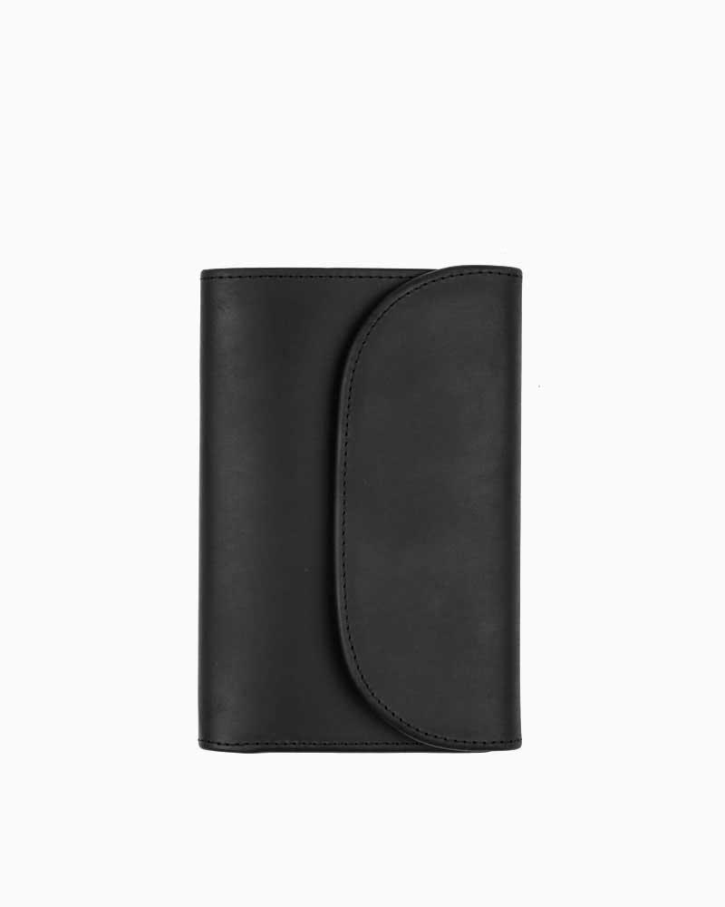セトラー【SETTLER】型番:OW1112(ブラック) カウハイド 三つ折り財布 男女兼用
