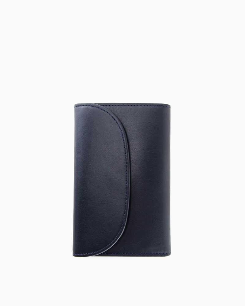 ホワイトハウスコックス【Whitehouse Cox】型番:S7660(ネイビー×タン) 財布 三つ折り財布 ツートン ダービーコレクション 馬革 ホースハイド 男女兼用(ネイビー)(タン)