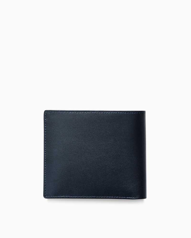 ホワイトハウスコックス【Whitehouse Cox】型番:S8772(ネイビー) 財布 二つ折り財布 インディビジュアルコレクション ボックスカーフ 牛革 男女兼用