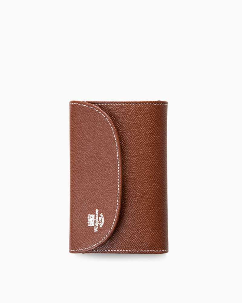 ホワイトハウスコックス【Whitehouse Cox】型番:S7660(ブラウン×ネイビー) 財布 三つ折り財布 ツートーン ロンドンカーフ×ブライドルレザー 牛革 男女兼用(ブラウン)(ネイビー)