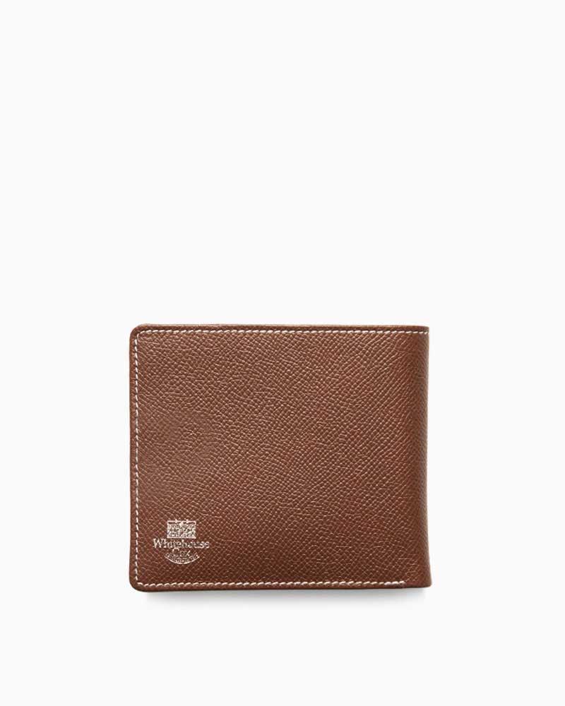 ホワイトハウスコックス【Whitehouse Cox】型番:S8772(ブラウン×ネイビー) 財布 二つ折り財布 ツートン ロンドンカーフ×ブライドルレザー 牛革 男女兼用(ブラウン)(ネイビー)