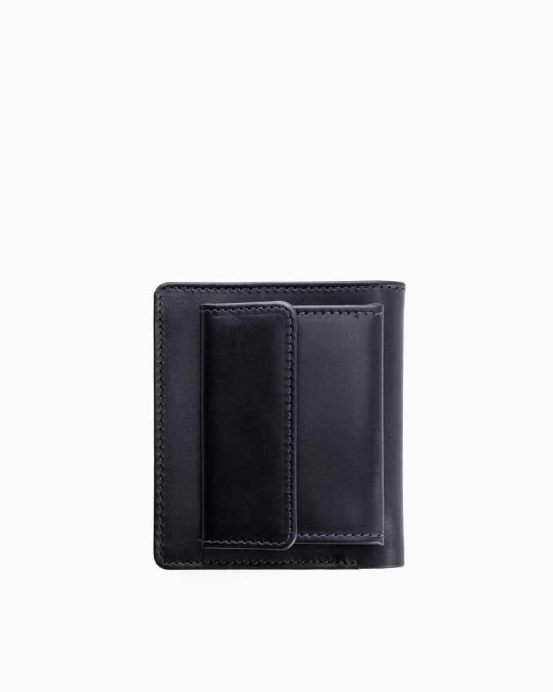 ホワイトハウスコックス【Whitehouse Cox】型番:S1958(ブラック/タン) 財布 コインケース付 二つ折り財布 ツートン ダービーコレクション 馬革 ホースハイド 男女兼用