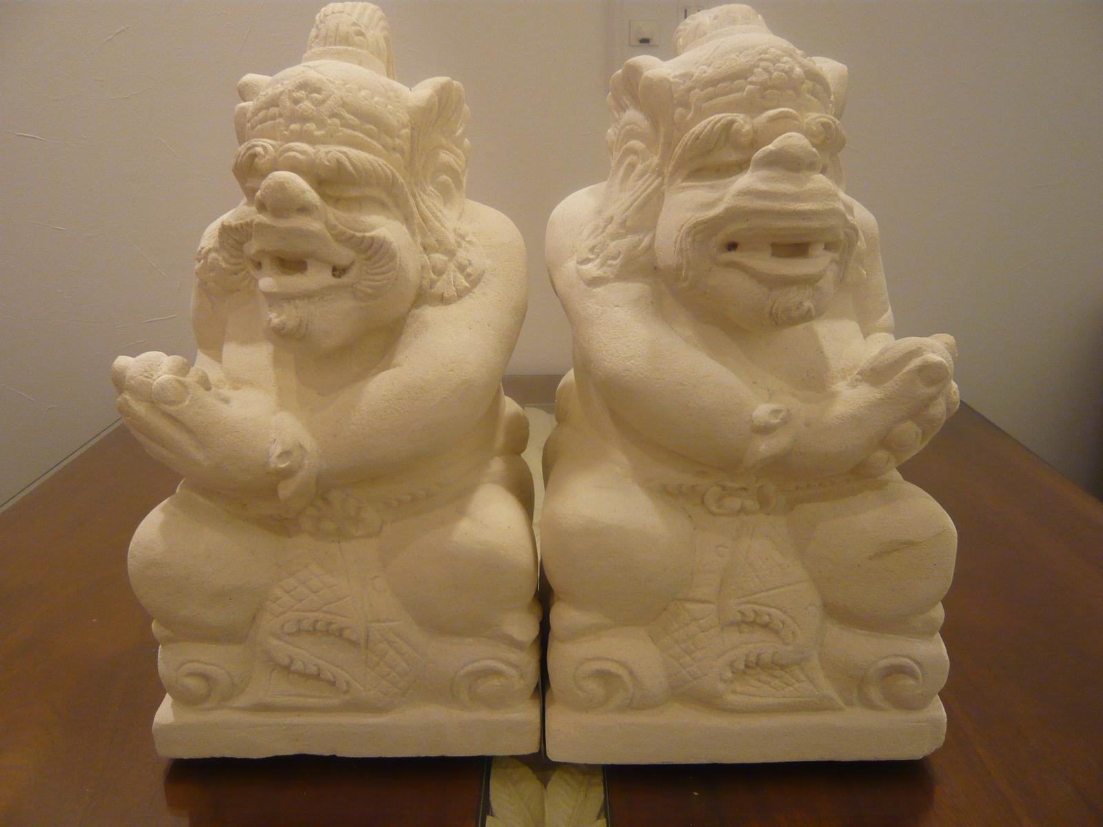 オブジェ ストーンオブジェ ハヌマーン像2体セット ストーンカービング 石彫り 石像 パラス石 アジアン雑貨 アジアンインテリア