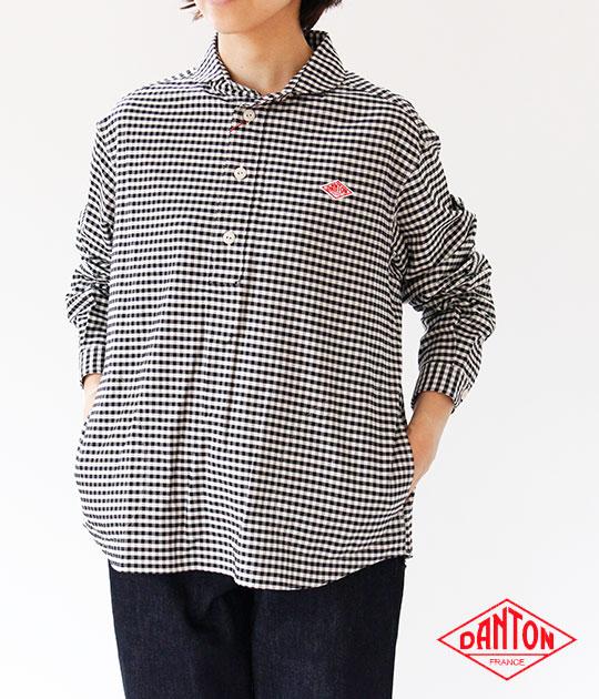 [DANTON]ダントン OXFORD GINGHAM 長袖プルオーバーシャツ JD-3564 TRD