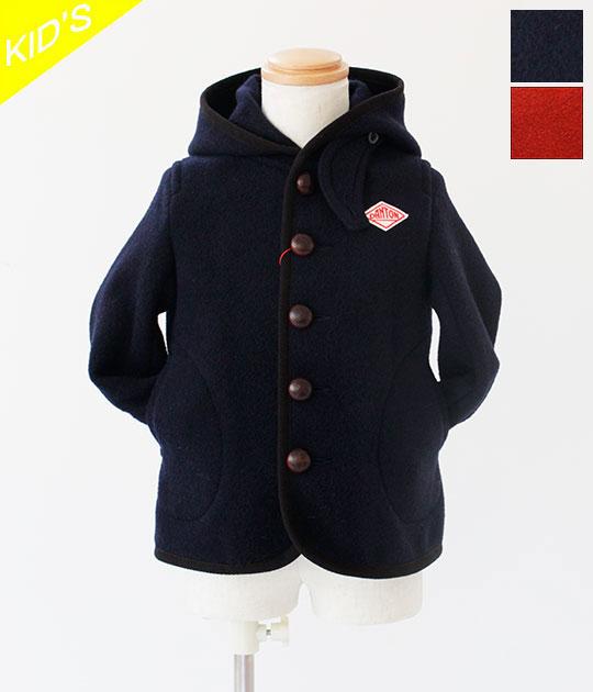 [DANTON]ダントン KIDS WOOL MOSSER フードジャケット JD-8576 WOM